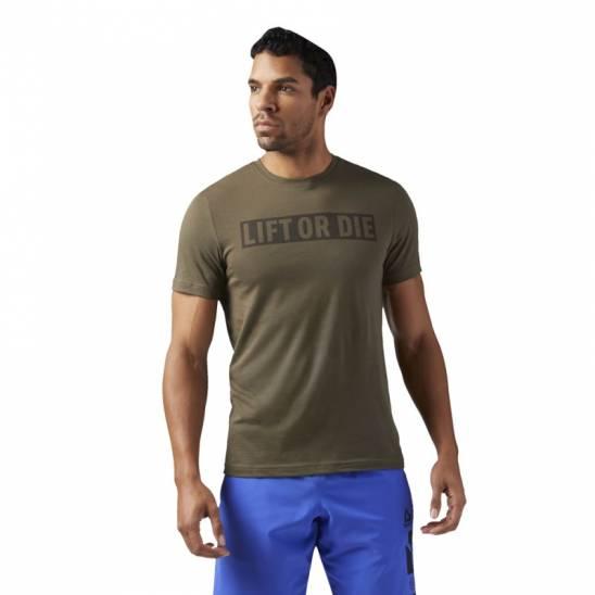 831f0a5a232b6 Pánské tričko LIFT OR DIE zelené - WORKOUT.EU