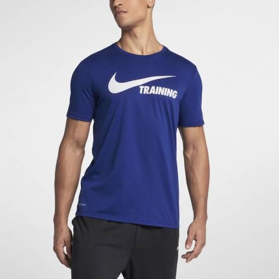 3554e517dda89 Man T-Shirt Nike Swoosh Training T-Shirt blue - WORKOUT.EU