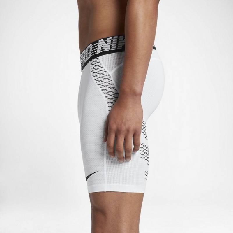 Pánské kompresní šortky Nike Pro HyperCool - bílé - WORKOUT.EU a4f7274b35