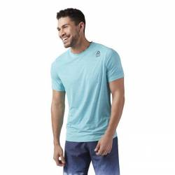 Man T-Shirt Reebok CrossFit Active Chill VENT Tee - modré