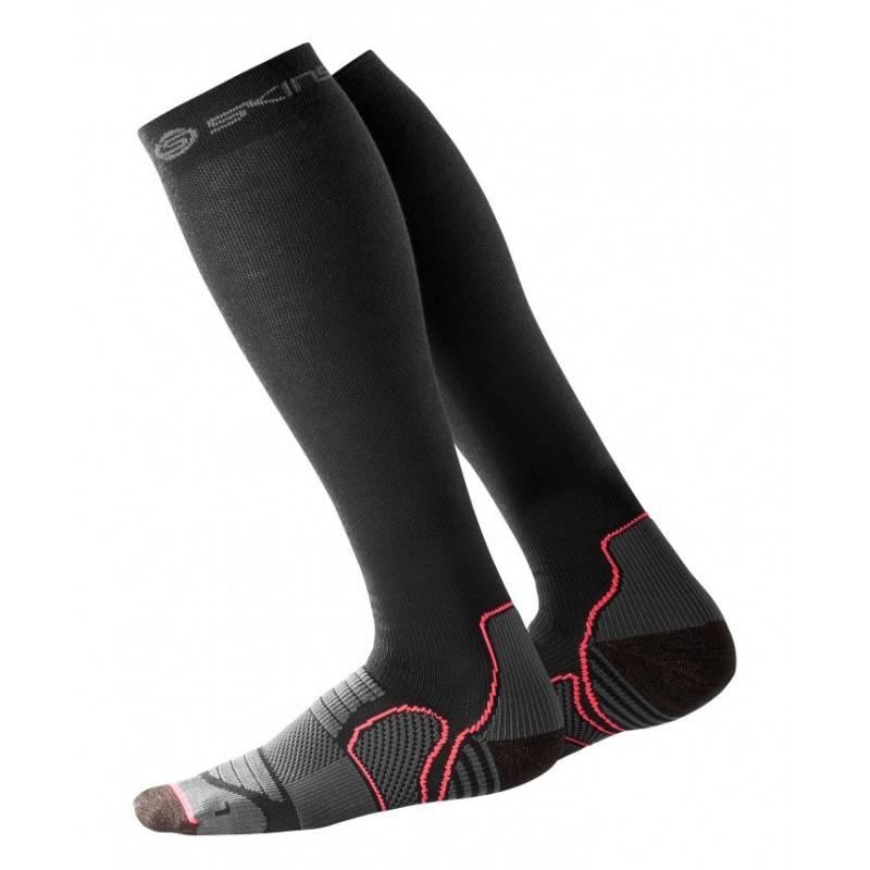 Woman compression knee socks Skins Essentials Active Black
