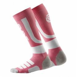 Woman compression knee socks Skins Essentials Active Peach/White