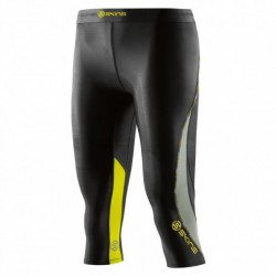 SKINS DNAMIC WOMENS 3/4 TIGHTS BLACK/LIMONCELLO DA99060089240