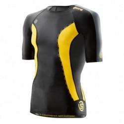 Man compression T-Shirt short sleeve Skins DNAmic Black/Citron