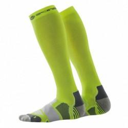 Compression knee socks Skins Essentials Fluro Citron/Pewter