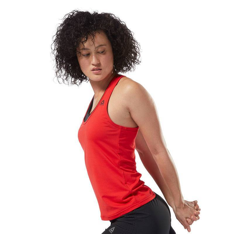 526f4e2db4d01b Woman top Les Mills BODYPUMP Racer Tank - DJ2187 - WORKOUT.EU