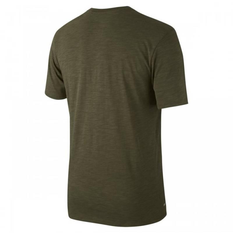 d626057a8afd4 Man T-Shirt Nike Metcon slub - green - WORKOUT.EU