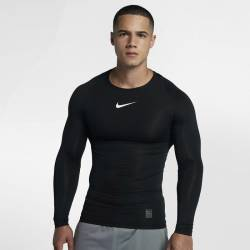 Man compression t-shirt with long sleeve Nike black 838077-010