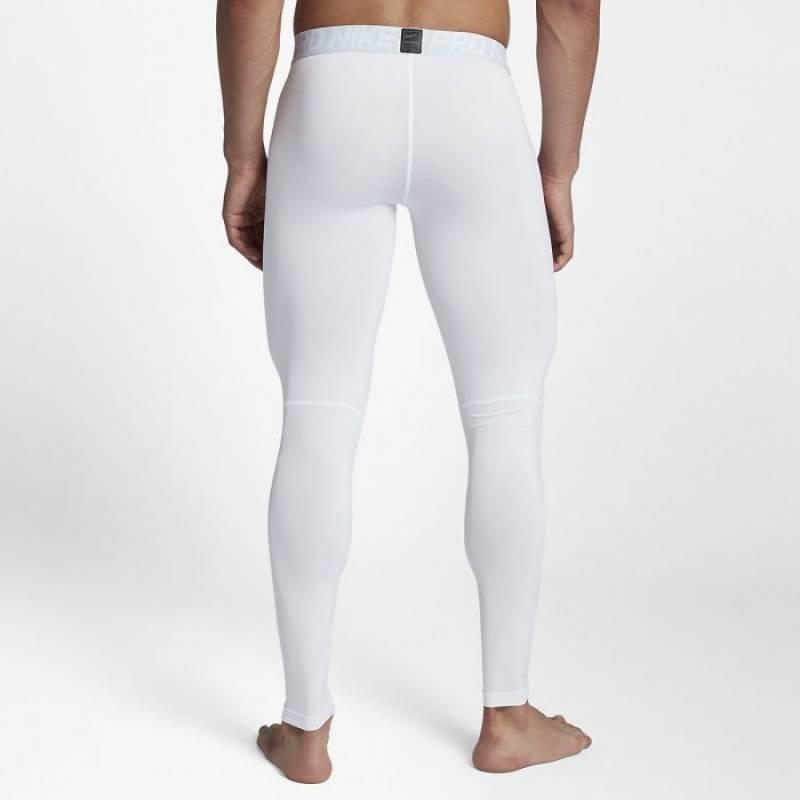 Pánské tréninkové legíny Nike - bílé - WORKOUT.EU 4142d43e25