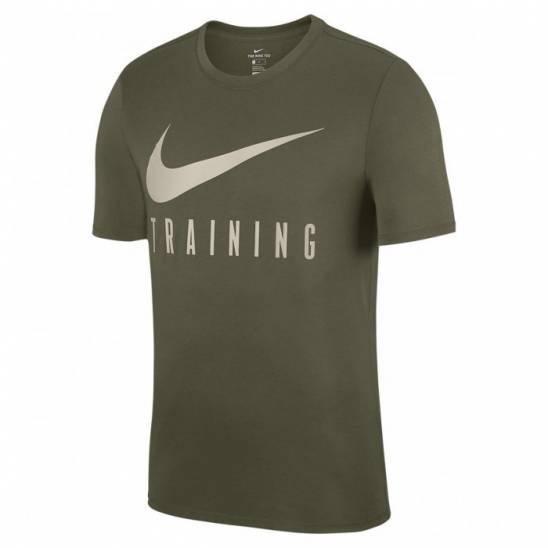 a796382d2e03 Pánské fitness tričko Nike TRAINING - zeleno-bílé - WORKOUT.EU