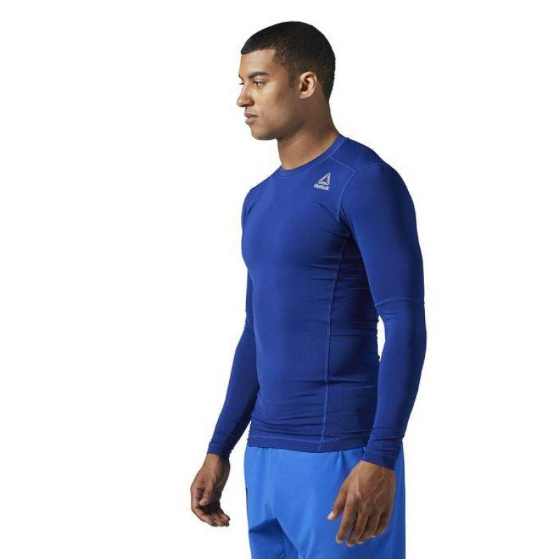 6f47a97ee40 Man compression T-Shirt WOR COMPR LO SLEEVE SOLI - WORKOUT.EU
