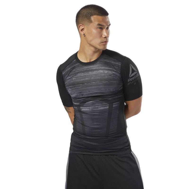 Man compression T-Shirt AC Comp Tee - AOP - CY4891 - WORKOUT.EU 1c808c36b5
