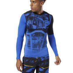Man compression T-Shirt OST LS Tee - Printed - DU3959