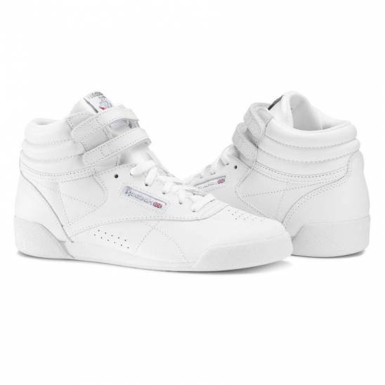 143a3969d0d Child racing white Shoes to aerobik Reebok Freestyle HI f s Classic - CN2553