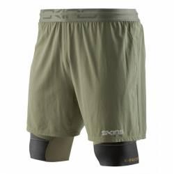 Man compression Shorts 2v1 K-PROPRIUM Superpose Half Tights Utility/Black