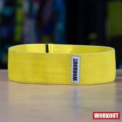 Textilní odporová guma / loop band WORKOUT žlutá