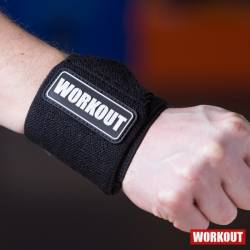 Wrist wraps 30 cm WORKOUT - black