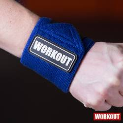 Wrist wrap 30 cm WORKOUT - blue