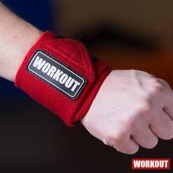 Wrist wrap 30 cm WORKOUT - červený