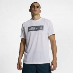 Man T-Shirt Just do it - white