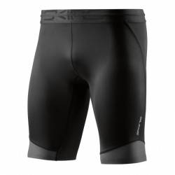 Man compression Shorts Skins DNAmic CORE Mens Long Half Tights Black