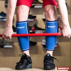 Shin sleeve WORKOUT - blue 5 mm (pair)