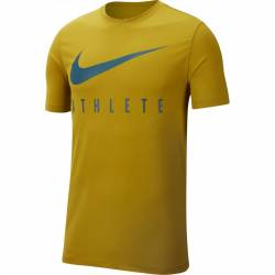Man T-Shirt Athlete Dri-FIT Swoosh - yellow