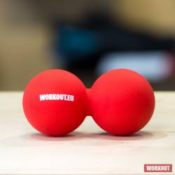 Massage Double Lacrosse ball WORKOUT - red