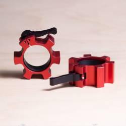 Kovový uzávěr na osu 50 mm - červené (pár)