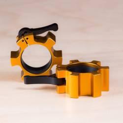 Kovový uzávěr na osu 50 mm - zlaté (pár)