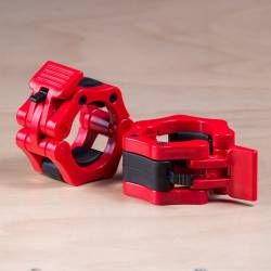 Plastový uzávěr na osu 50 mm - červené (pár)
