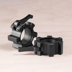Kovový uzávěr na osu 50 mm - černé (pár)