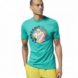 Man T-Shirt Reebok CrossFit Funky Flamingo Tee - DY8430