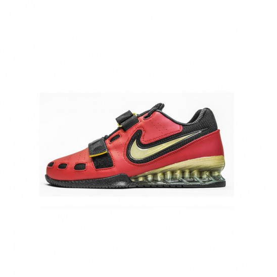 a1405085737 Mens weightlifting shoes Nike Romaleos 2 - Varsity Red   Gold   Black
