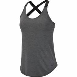 Woman top Nike NK DRY TANK ELASTIKA grey