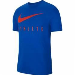 Man T-Shirt Athlete Dri-FIT Swoosh - blue