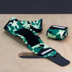 Wrist wrap 30 cm WORKOUT - Green Camo