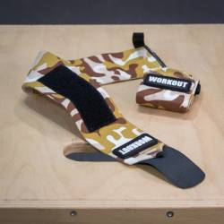 Wrist wrap 48 cm WORKOUT - Brown Camo