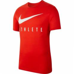 Man T-Shirt Nike Athlete - red/white