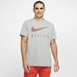 Man T-Shirt Athlete Dri-FIT Swoosh - dark grey