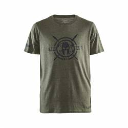 Man T-Shirt CRAFT SPARTAN SS Casual - green
