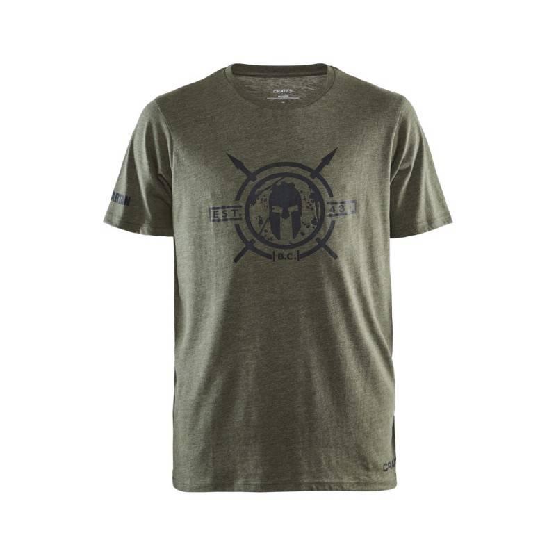 Man T-Shirt CRAFT SPARTAN SS Casual - green