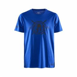 Man T-Shirt CRAFT SPARTAN SS Casual - blue