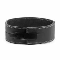 Powerlifting Leather 10 mm - 10 cm Lever Belt black