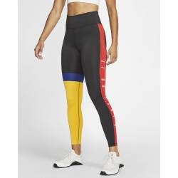 Woman Tight Nike One 7/8 black/red/yellow