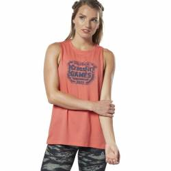 Woman top Reebok CrossFit Distressed Games Crest - DY8409