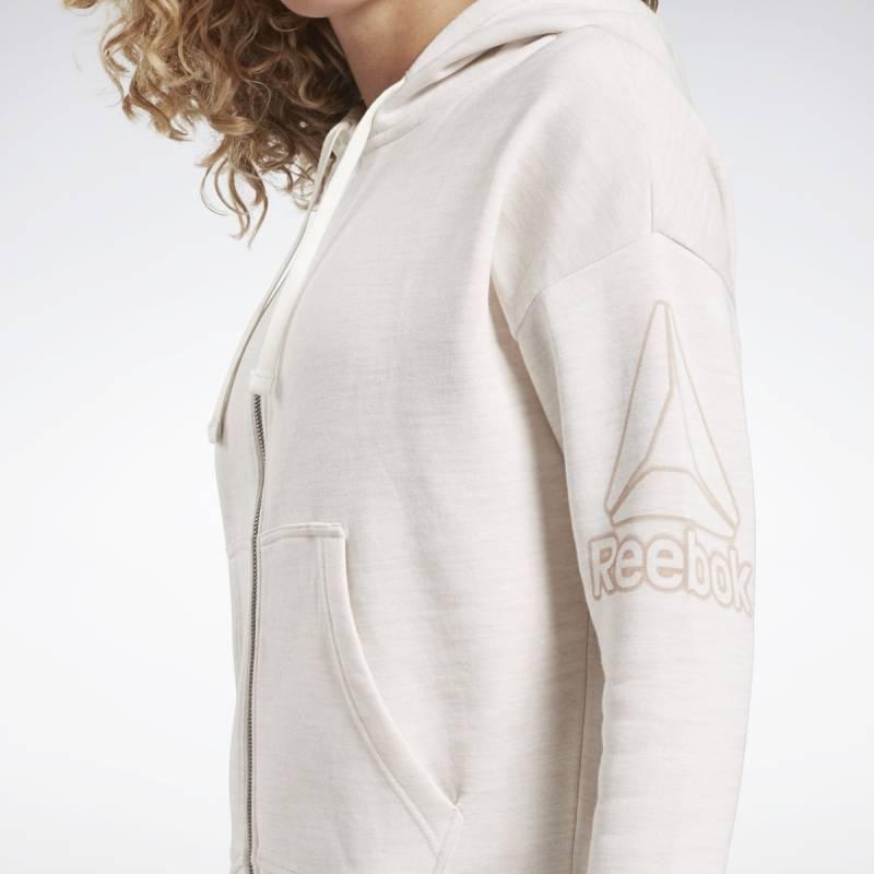 Woman hoodie TE Marble FZ - EC2327