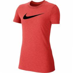 Woman training T-Shirt Nike Dri-FIT red/black