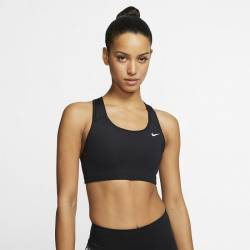 Woman Bra Nike Swoosh - medium support black