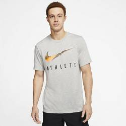 Man training T-Shirt Nike ATHLETE graphic DK gray